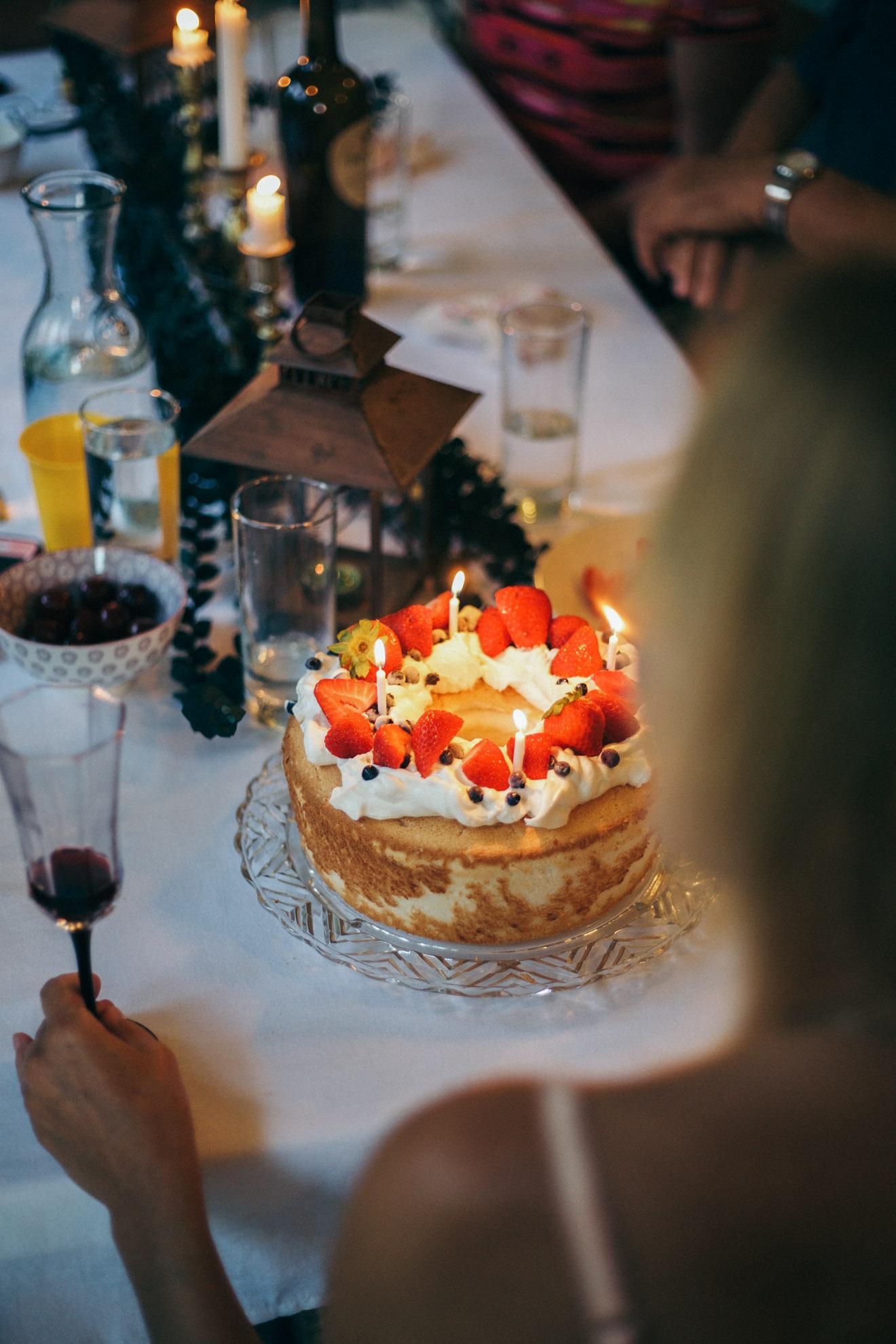 angel food birthday cake