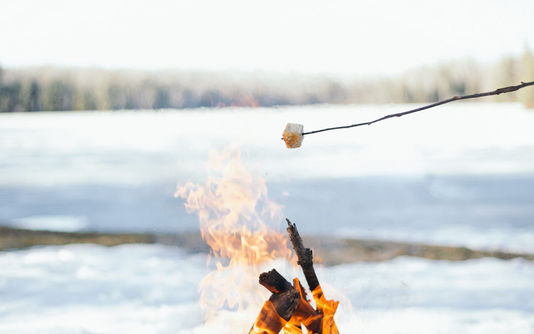 A Snowy Lakeside Campfire + GIVEAWAY