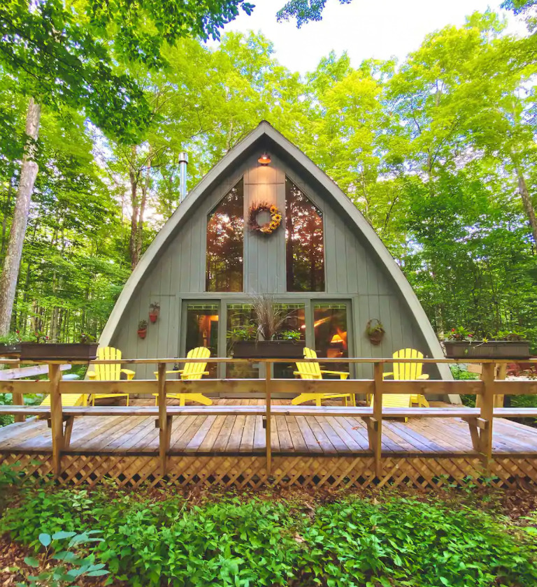 wisconsin log cabin airbnb